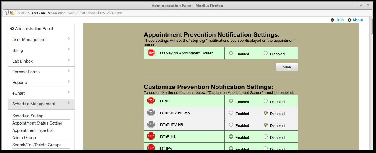 15 Prevention Notification Management