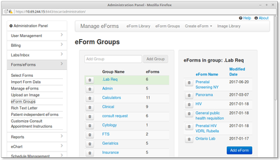 15 eForm Groups