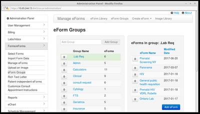 15 eForm Groups