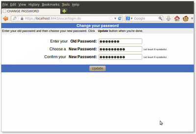 14 Change password