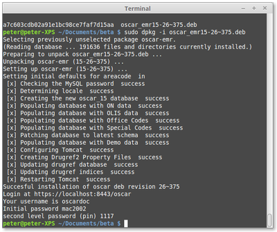 Installation of OSCAR 15 on Ubuntu 14 04 by DEB