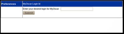 11x Set MyOscar Username