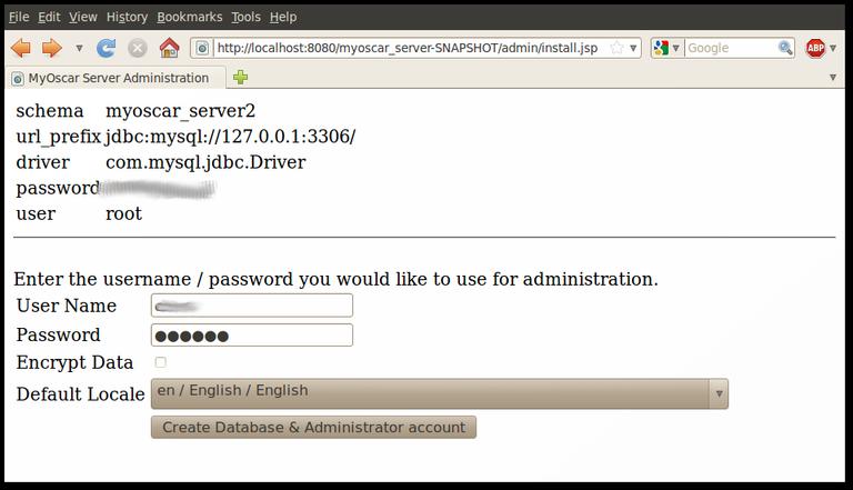 MyOscar2 Server Initialising