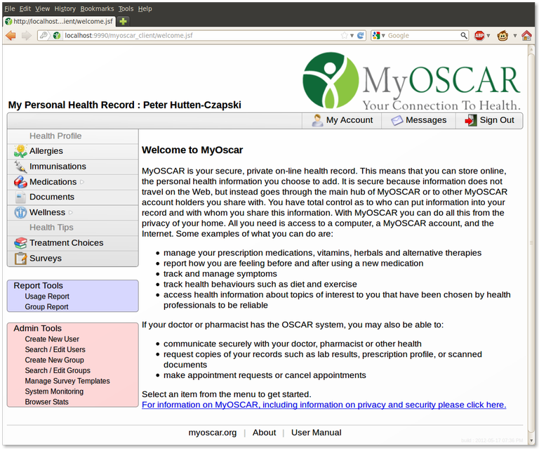 MyOscar Welcome