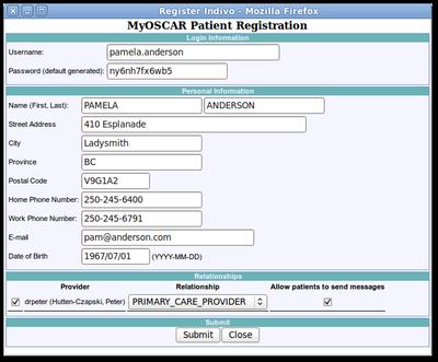 Register Indivio MyOscar through Oscar