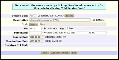 12 Add Edit Service Code