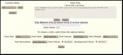 12 Billing Code Style Editor