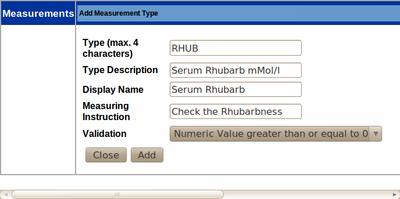 Add new Mesurement Type