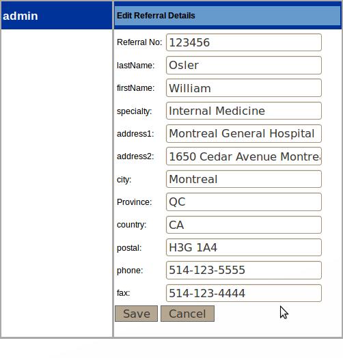 Admin Edit Referral