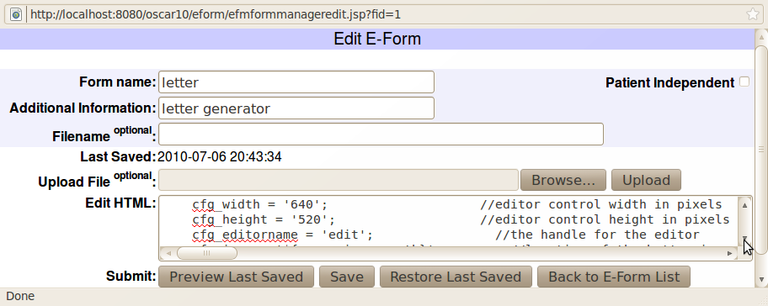 edit eForm