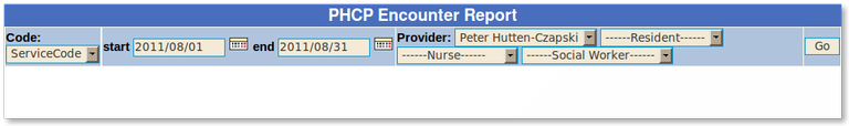 11x PHCP encounter report