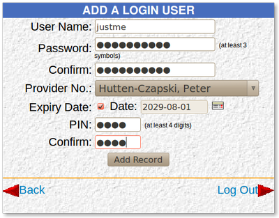 Add Login User