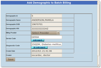12 Batch Billing