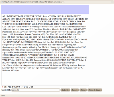Letter HTML