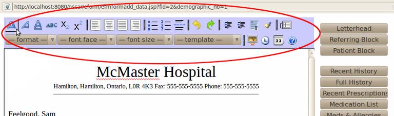 Letter Toolbar