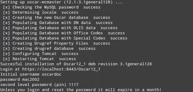 12_1 Console Dialog Oscar Install
