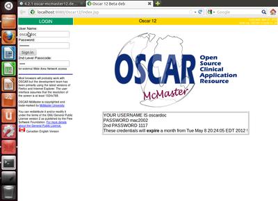 Oscar12 on Ubuntu 12.04LTS